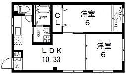 オーナーズマンション南巽[206号室号室]の間取り