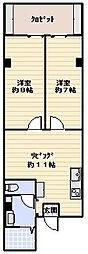 メイゾン西新井[103号室]の間取り