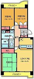 サンモール東綾瀬[804号室]の間取り