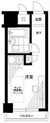 入谷センチュリープラザ21 2階ワンルームの間取り