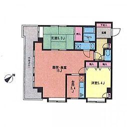 KAWANO SIMOKITA SOUTH[6階]の間取り