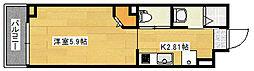 (仮称)府中大須4丁目ビル 2階1Kの間取り