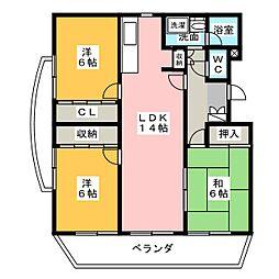 BRIGHT HILLS[2階]の間取り