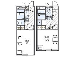 キャピタル平松[2階]の間取り