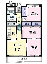 兵庫県神戸市西区小山3丁目の賃貸マンションの間取り