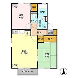 ウィズライブ[2階]の間取り