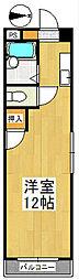 オーシャン御井III[2階]の間取り