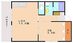 森藤不動産ビル[5階]の間取り