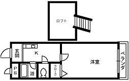 大阪府堺市西区鳳東町2丁の賃貸マンションの間取り