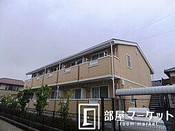 愛知県豊田市荒井町鍜治屋畑の賃貸アパートの外観