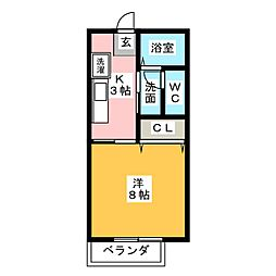サンパークCERA A[1階]の間取り
