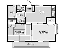 神奈川県相模原市南区相模台3丁目の賃貸アパートの間取り
