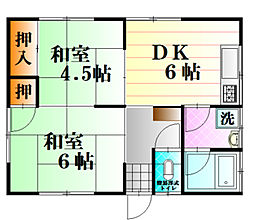 谷川アパート[201号室]の間取り