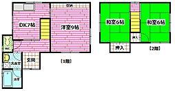 [一戸建] 広島県安芸郡海田町蟹原2丁目 の賃貸【/】の間取り