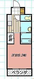 プリーモ天神[208号室]の間取り