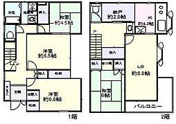 [一戸建] 千葉県船橋市本町3丁目 の賃貸【/】の間取り