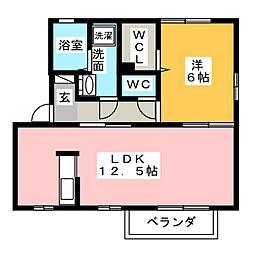 ハイツグランシャリオ[2階]の間取り