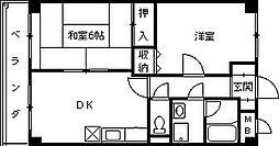 デアベルク夙川[205号室]の間取り