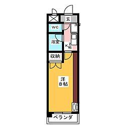 サンヴィエール神山[2階]の間取り