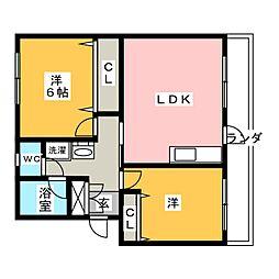 メゾン相生[4階]の間取り