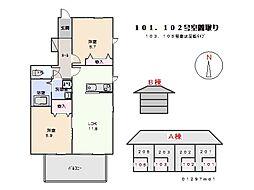 鈴木コーポ[1D号室]の間取り