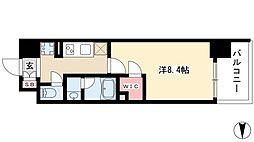 エルスタンザ黒川 5階1Kの間取り