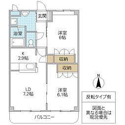 ベルファミーユ 1[303号室号室]の間取り
