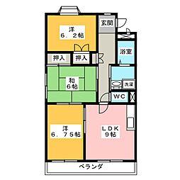 ソレアード81B[2階]の間取り