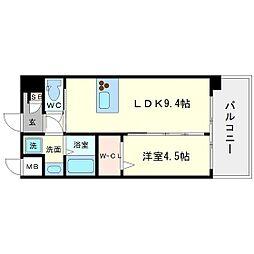 第22関根マンション[11階]の間取り