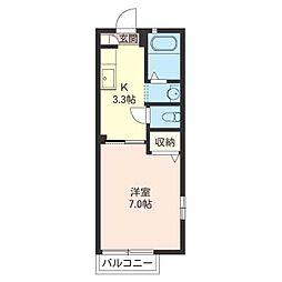 くすのきハウスB[2階]の間取り