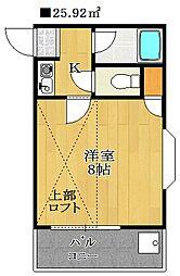 グリーンターフ・セゾン[3階]の間取り