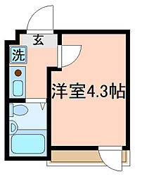 東京都大田区西六郷1丁目の賃貸アパートの間取り