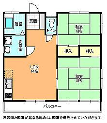 相互農産アパート[203号室]の間取り
