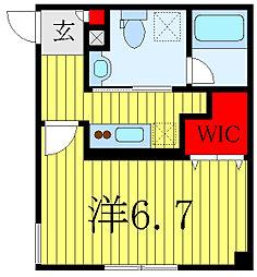 都営三田線 白山駅 徒歩8分の賃貸マンション 1階1Kの間取り