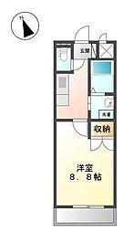 ワイズ パラシオン[1階]の間取り