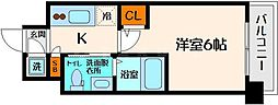 エスリード京橋ノースプレイス[13階]の間取り
