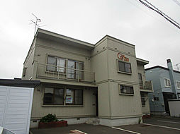 北海道札幌市北区篠路六条3丁目の賃貸アパートの外観