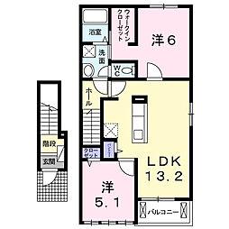プリンセチア I[2階]の間取り
