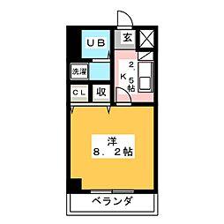 シャトー横山壱番館[4階]の間取り