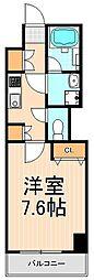 フュージョナル浅草DUE[2階]の間取り