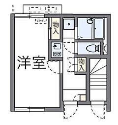 東京都府中市清水が丘2丁目の賃貸アパートの間取り