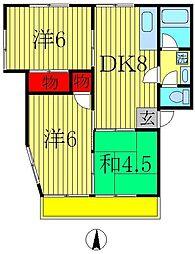 ハイツ伊藤2号[101号室]の間取り
