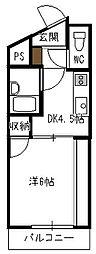 C&C三宅[106号室]の間取り