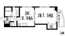 カーサアセボ[5階]の間取り