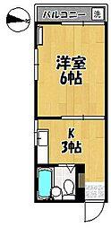 メゾンハレー[2階]の間取り