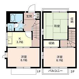 [テラスハウス] 東京都町田市鶴間5丁目 の賃貸【/】の間取り