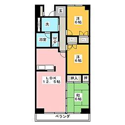 ハーモニーセブン[3階]の間取り