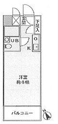 東京都渋谷区富ヶ谷1丁目の賃貸マンションの間取り