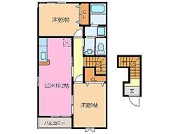 ポラリス C棟[2階]の間取り