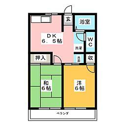 シティハイム和川[2階]の間取り